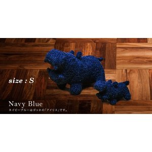 ヒポポタマス ぬいぐるみ・Soft Toy (S)NavyBlue|woodbell-selection