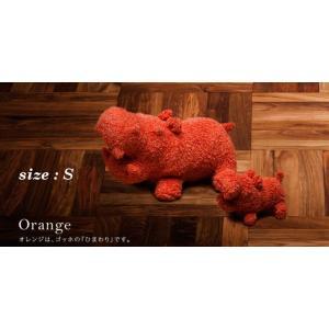 ヒポポタマス ぬいぐるみ・Soft Toy (S)Orange|woodbell-selection