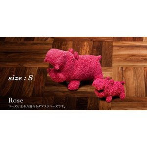 ヒポポタマス ぬいぐるみ・Soft Toy (S)Rose|woodbell-selection