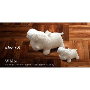 ヒポポタマス ぬいぐるみ・Soft Toy (S)White|woodbell-selection