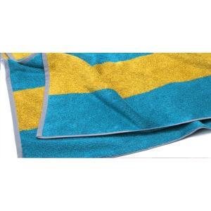 ヒポポタマス ストライプビーチタオル (CARIBBEAN BLUE&GOLD)|woodbell-selection