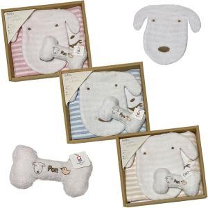 今治タオル 出産祝い ギフトセット 3点セット 赤ちゃん ベビー ギフト 贈り物 スタイ・タオル・ガラガラおもちゃ  IB2|woodbox-shop