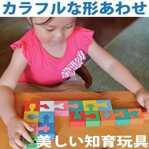 木のおもちゃ 出産祝い 知育 1歳 2歳 3歳 手作り 誕生日/ カラフルな形合わせ(積み木) ごっこ遊び ギフト 日本製 積み木 型はめ|wooden-toys