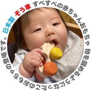 木のおもちゃ 出産祝い 0歳 1歳/ ぞう車 すべすべの 赤ちゃんおもちゃ 押し車 おしゃぶり 歯がため 日本製 木育|wooden-toys