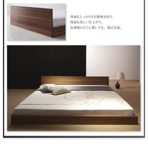 クイーンサイズベッド マットレス付き ベッド スタンダードボンネルコイル クイーン|woodliving|11