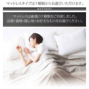 クイーンサイズベッド マットレス付き ベッド スタンダードボンネルコイル クイーン|woodliving|12