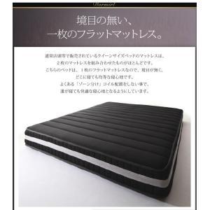 クイーンサイズベッド マットレス付き ベッド スタンダードボンネルコイル クイーン|woodliving|14
