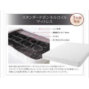 クイーンサイズベッド マットレス付き ベッド スタンダードボンネルコイル クイーン|woodliving|20