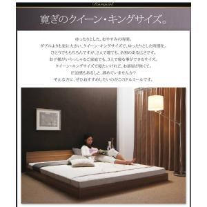 クイーンサイズベッド マットレス付き ベッド スタンダードボンネルコイル クイーン|woodliving|04