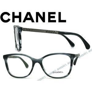 201b48b00f44 CHANEL シャネル メガネフレーム マーブルブラック 3343-1563