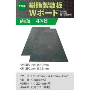 樹脂製養生敷板Wボード1219×2438×20mm