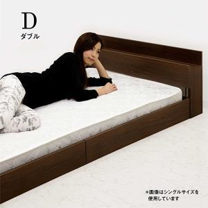 ベッド ダブル ローベッド すのこ 木製 マットレス付き 超...