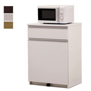 ゴミ箱 キッチンカウンター 2分別 ダストボックス 幅45 コンパクト フルスライドオープンレール付き 45Lペール付き 国産 完成品の写真