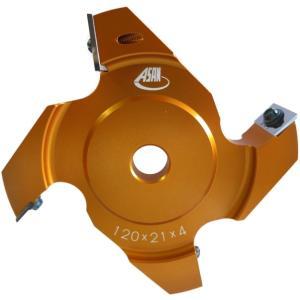 アサノ式 替刃式リード付三面仕上カッター 7分溝切り用 120mm×21mm×4P woodtool