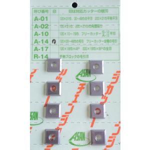 アサノ式 チェンジカッター替刃 A-14 毛引刃用 8枚入 woodtool