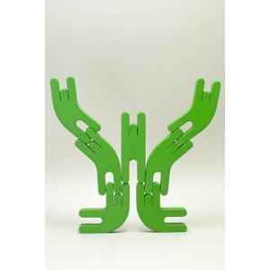 アトリエ・フ 人形積み木 スムース(緑)|woodwarlock