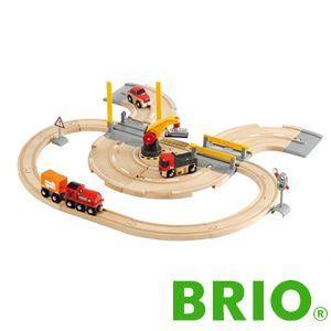 BRIO レール&ロードクレーンセット|woodwarlock