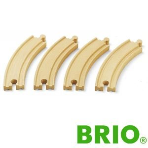 BRIOレールパーツ カーブレール170mm|woodwarlock