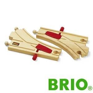 BRIO レールパーツ ツマミ付切替ポイント|woodwarlock