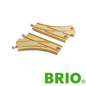 BRIOレールパーツ カーブポイントレール|woodwarlock
