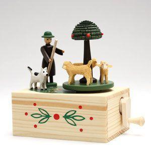 ザイフェンの手回しオルゴール 羊飼い|woodwarlock