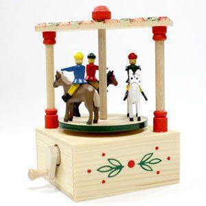 ザイフェンの手回しオルゴール 木馬|woodwarlock