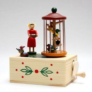 ザイフェンの手回しオルゴール 鳥かご|woodwarlock