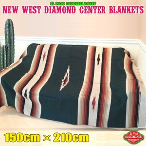 ●ネイティブアメリカンに伝わる伝統のデザインを再現した、こだわりの手織りネイティブ柄ブランケット【全...