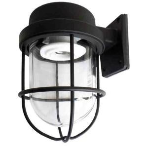 [新商品] 松本船舶 マリンランプ 1号フランジブラック LED電球装着モデル (R1-FR-B)|woody-koubou