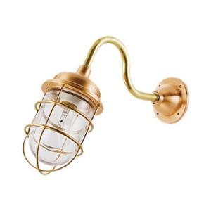 松本船舶 マリンランプ 2号アクアライト ゴールド LED球付(R2-AQ-G)|woody-koubou