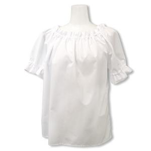 フラダンス パウブラウス ホワイト 子供〜大人 大きいサイズあり 日本製 綿ポリでしわ知らず フラ衣...