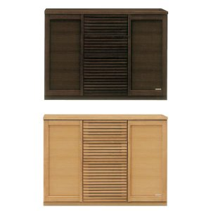 日本製 完成品 和風モダン 2色対応 120cm幅 キッチンカウンター ブラウン/ナチュラル