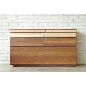 ローチェスト 幅120cm ナチュラル ブラウン 木製