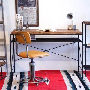 書斎机 パソコンデスク 木製 アンティーク風 幅115cm ブラウン