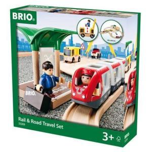 特割 ブリオ BRIO レール&ロードトラベルセット  汽車レールセット 木製 33209