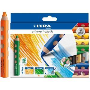 リラ社 LYRA グルーヴトリプルワン 12色 色えんぴつ 色鉛筆 クレヨン GROOVE