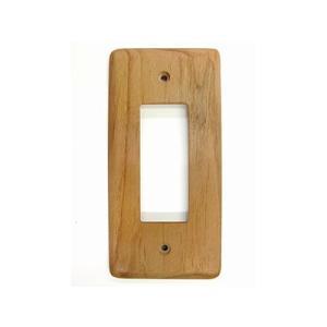 ウッディプッディ木製雑貨 天然木コンセントプレート(アルダー)A05-1001 熨斗不可
