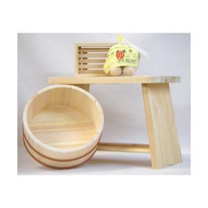 風呂椅子セット  woodystoreak