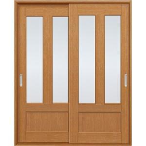 ユニットドア(扉・枠セット)/引違い戸/上2枚ガラス|woodystoreak