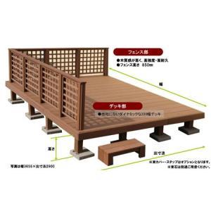【送料無料】デッキ規格品/NEWアリエッタ(デッキ+フェンス付き)/サイズは12種類から選べます。|woodystoreak