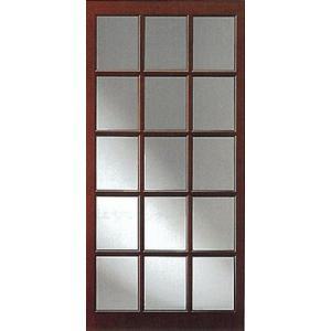 ガラス入り木製格子戸|woodystoreak