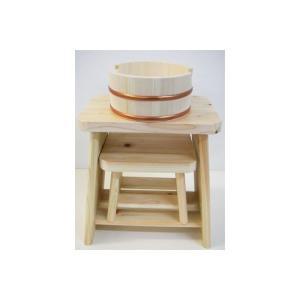 国産ひのき親子風呂いすセット woodystoreak