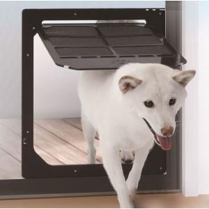 ペットドア(網戸専用)犬用・猫用Lサイズ【送料無料】|woodystoreak