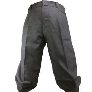 自転車 ニッカ 三季用 100%ウールフラノ チャコールグレー 5465by|woodytail