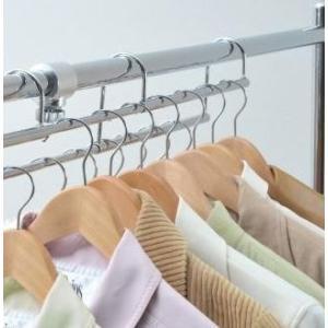 ハンガーラック 低い 段違い 増量用 金具 標準 伸縮 シルバー   ( パイプハンガー コートハンガー 衣類収納 ポールハンガー 物干し 部屋干し ) 送料込|woooods