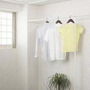 部屋干し ハンガー つっぱり 3M ホワイト  ( ハンガーラック 低い パイプハンガー コートハンガー ハンガーパイプ 衣類収納 ポールハンガー 物干し ) 送料込|woooods