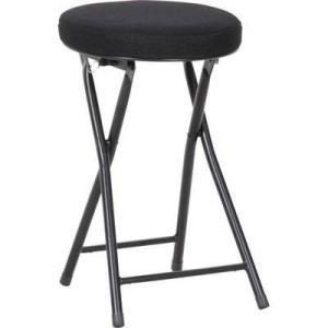 パイプ椅子 折りたたみ椅子 折り畳み椅子 イス 椅子 チェア おしゃれ 安い 軽量 コンパクト ブラック 黒 背もたれなし 丸椅子 丸イス スツール woooods