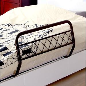 ベッドガード ベッドフェンス ブラウン 茶色 ハイタイプ 安い ロング 布団 おしゃれ 転落防止 子供 介護|woooods