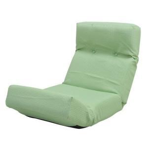 座椅子 リクライニング グリーン 緑 ( 低反発 座いす チェア チェアー 1人掛け ソファー ソファ 座イス 低い 低い椅子 )|woooods