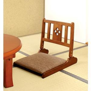高齢者 折りたたみ 座椅子 ブラウン 茶色 ( 低反発 座いす チェア チェアー 1人掛け ソファー ソファ 座イス 低い 低い椅子 リクライニング )|woooods